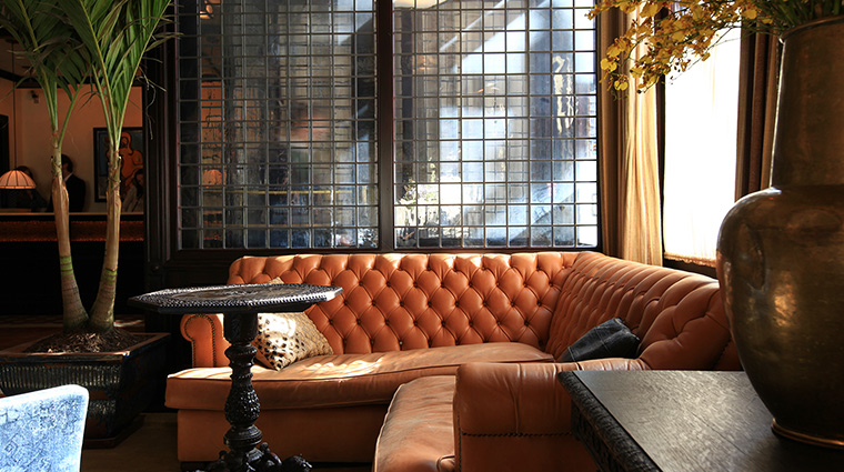 The Greenwich Hotel lobby couch