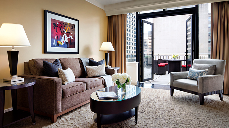 the gwen a luxury collection hotel grand terrace living room