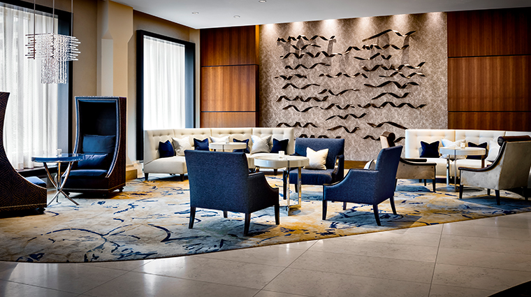 the gwen a luxury collection hotel lobby