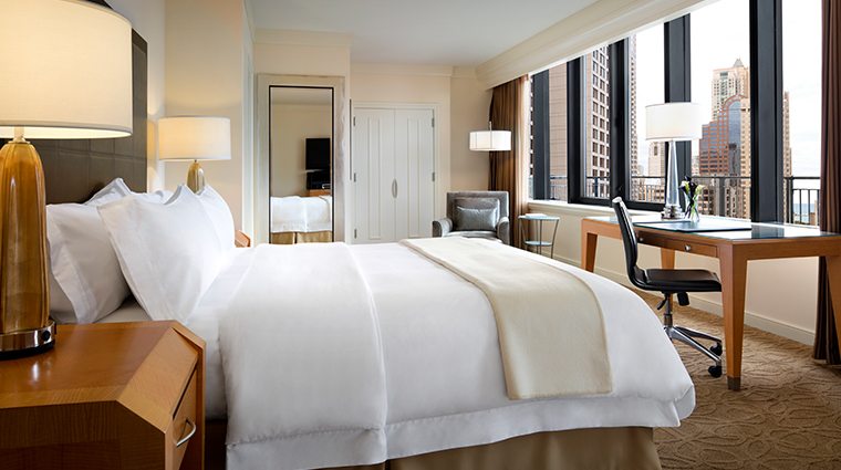 the gwen a luxury collection hotel terrace suite bedroom