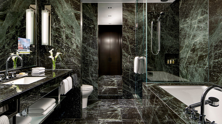 the hazelton hotel bathroom
