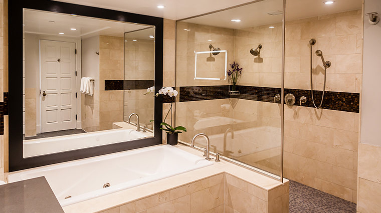 the heathman hotel renovated bathroom