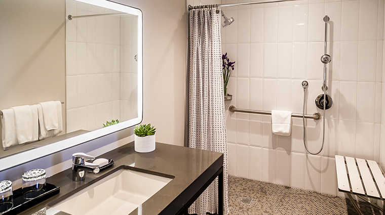 the heathman hotel renovated bathroom2