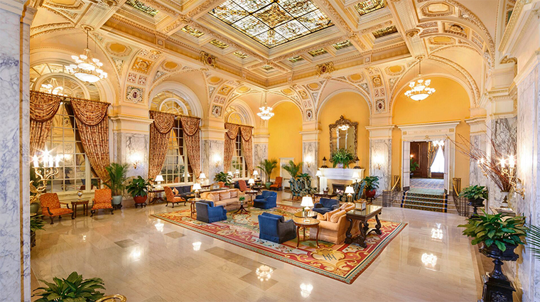 the hermitage hotel historic lobby