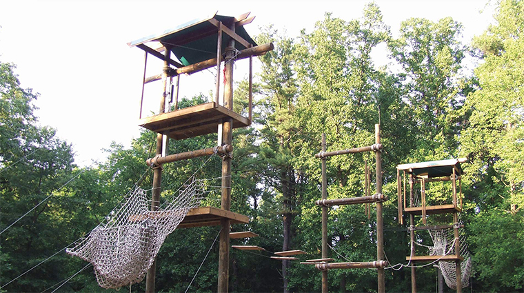 the hotel hershey odyssy rope course
