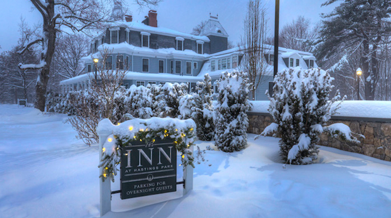 the inn at hastings park winter