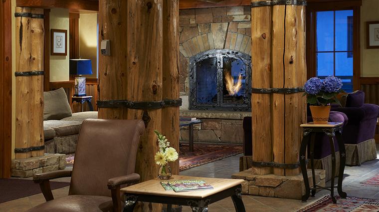 the inn at lost creek lobby