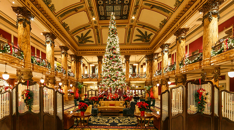 the jefferson hotel lobby grand staircase holidays