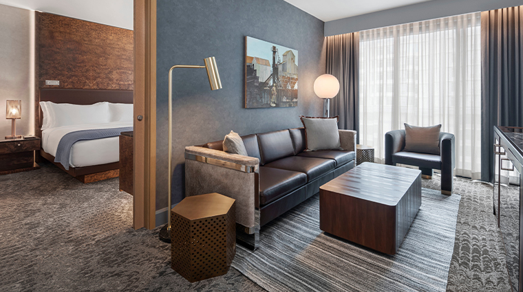 the joseph a luxury collection hotel deluxe suite living