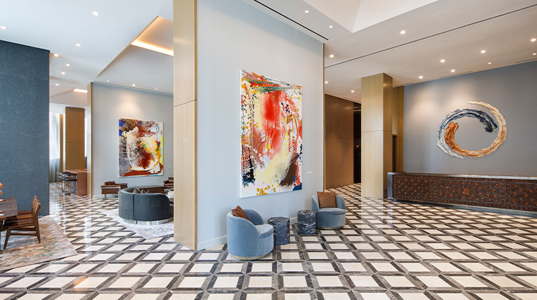 the joseph a luxury collection hotel lobby