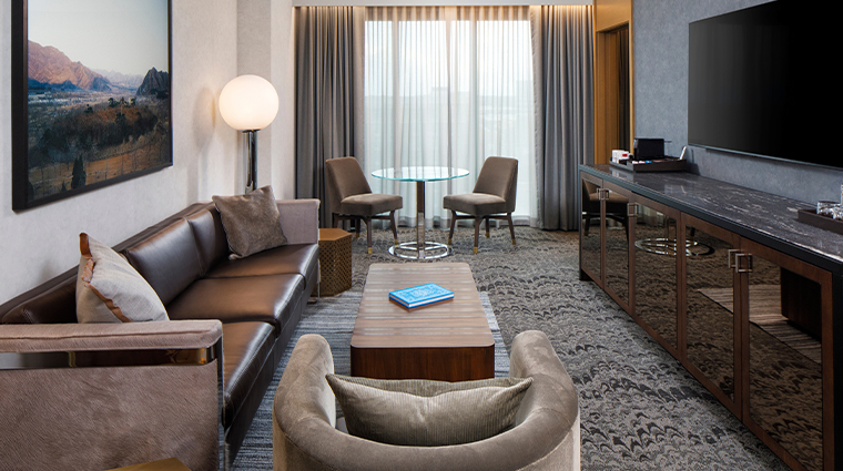 the joseph a luxury collection hotel luxury suite living