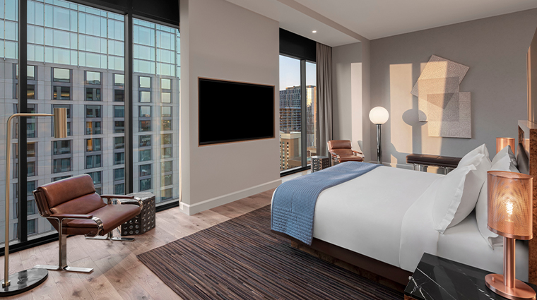 the joseph a luxury collection hotel penthouse bed