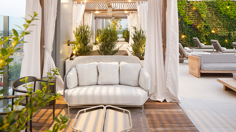 the joseph a luxury collection hotel pool cabana