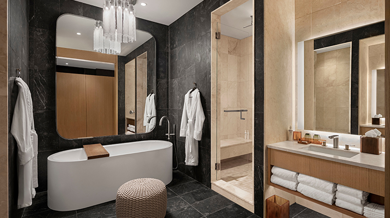 the joseph a luxury collection hotel presidential suite bathroom