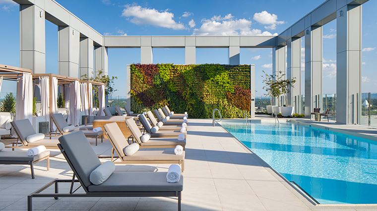 the joseph a luxury collection hotel rooftop pool