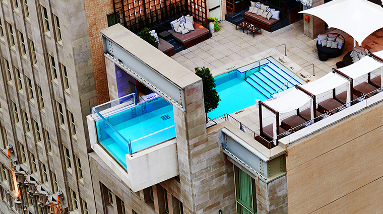 the joule exterior pool