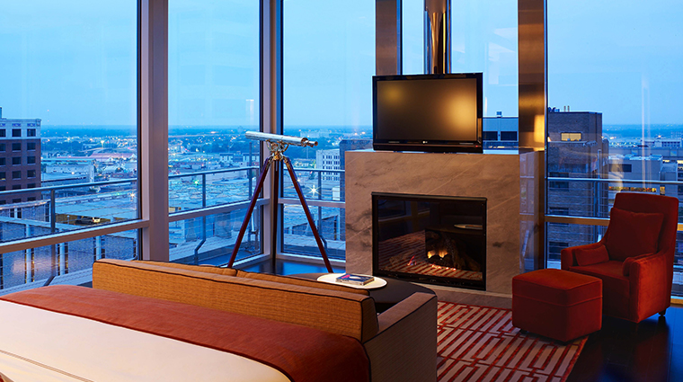 the joule penthouse bedroom