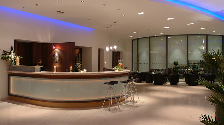 the k spa at the k club reception area