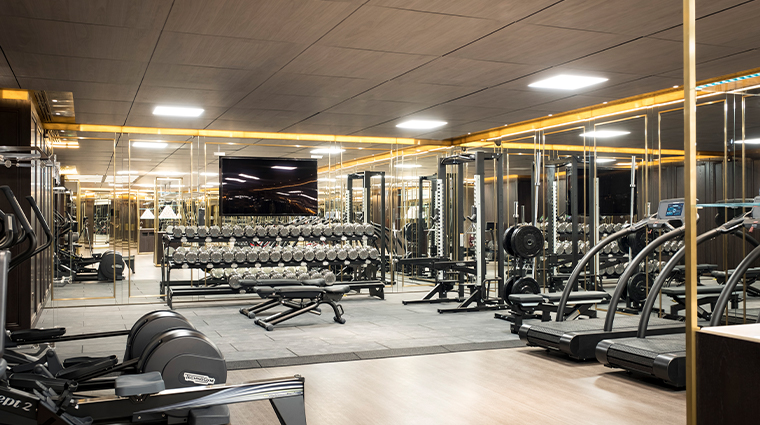 the lanesborough Club Spa Room Gym Weights Area