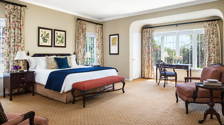 the langham huntington pasadena Wisteria cottage bedroom
