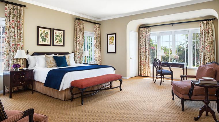 the langham huntington pasadena Wisteria cottage bedroom