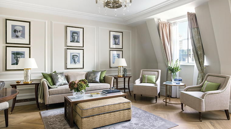 the langham london one bedroom living room