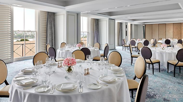 the langham sydney drawing room banquet setup