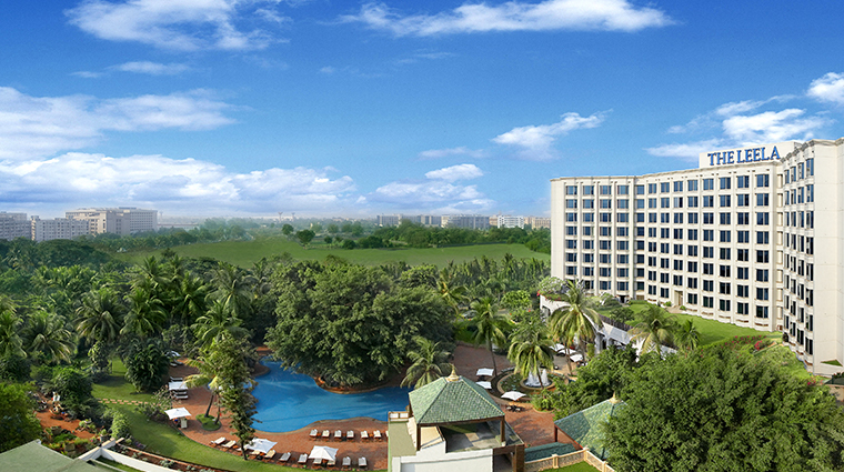 the leela mumbai exterior panorama view