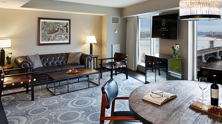 the liberty hotel a luxury collection hotel charles river suite living area