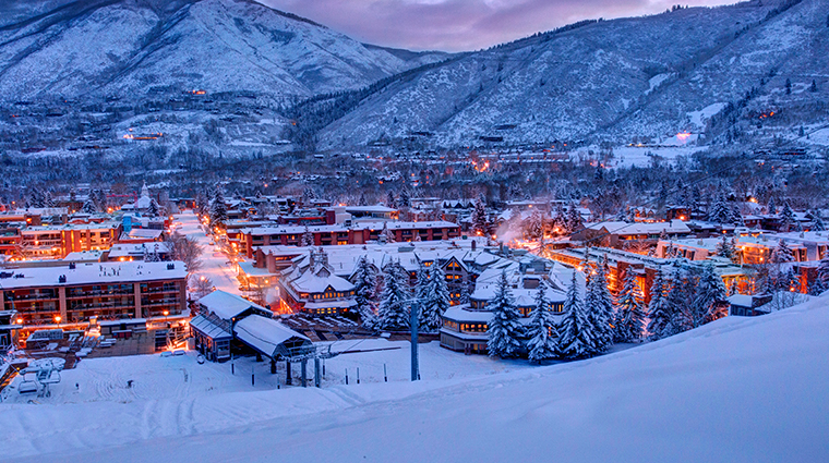 See Aspen In All Its Snow-Capped Splendor