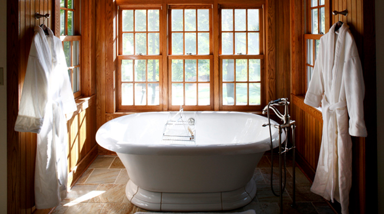 the lodge and cottages at primland cardinal fiarway cottage bathroom