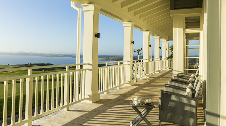 the lodge at kauri cliffs balconies