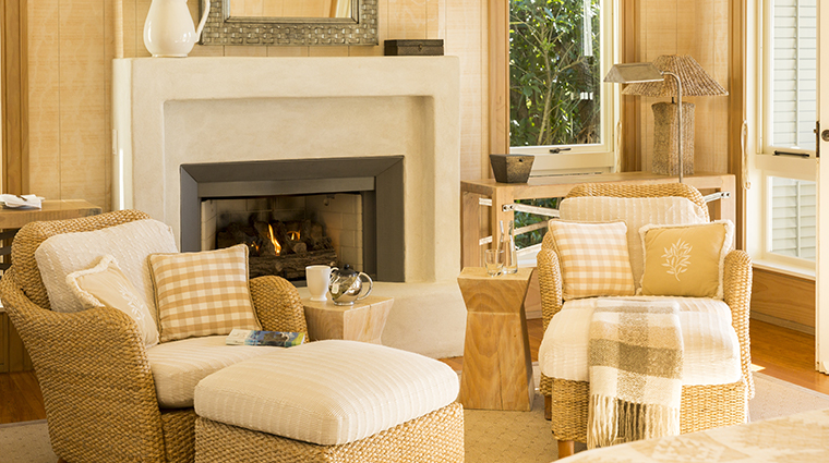 the lodge at kauri cliffs deluxe suite sitting area