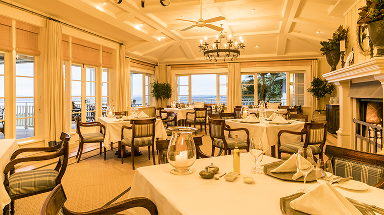 the lodge at kauri cliffs main dining room