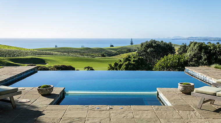 the lodge at kauri cliffs owners cottage pool and patio