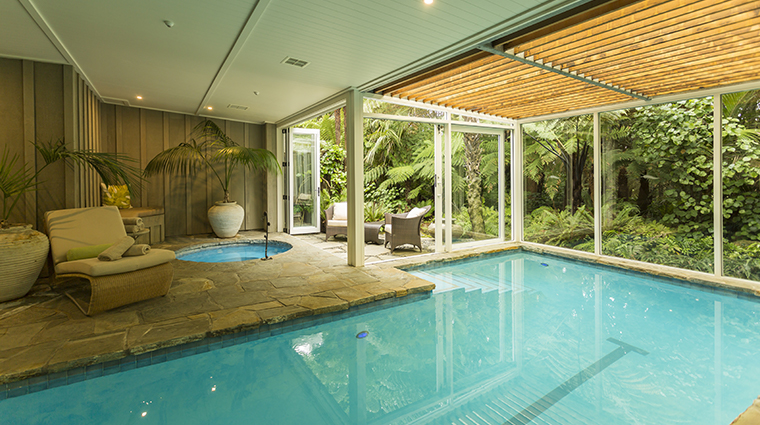 the lodge at kauri cliffs spa pool and jacuzzi