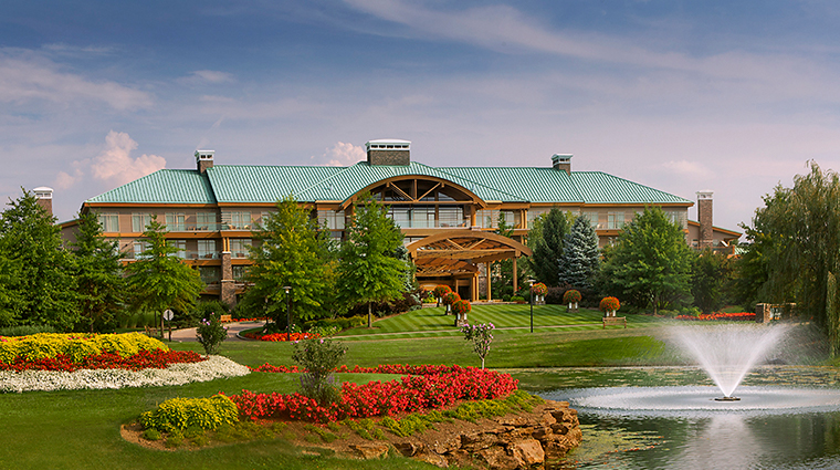 the lodge at turning stone resort casino exterior shot