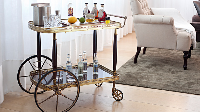 The London Edition drink trolley