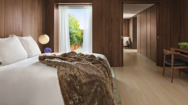 The London Edition penthouse bedroom