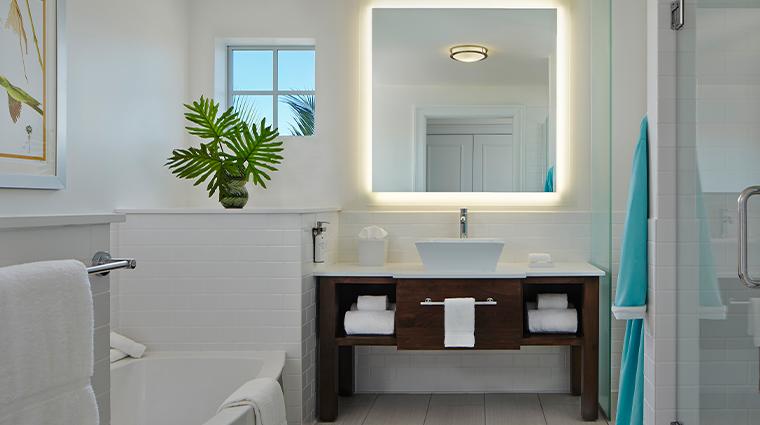 the marker waterfront resort guestroom suite bathroom
