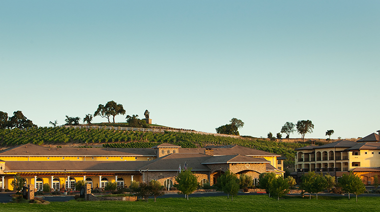 the meritage resort and spa exterior and vineyards