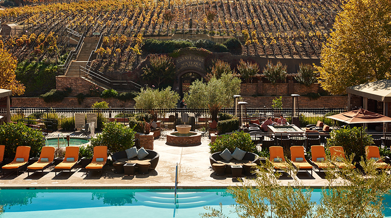the meritage resort and spa pool and vineyards