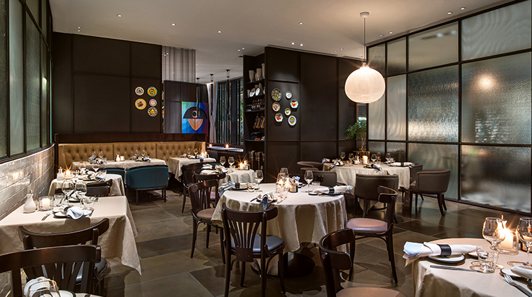 the middle house frasca dining area