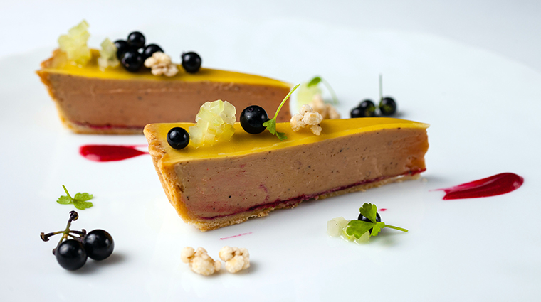 the modern foie gras and huckleberry tart