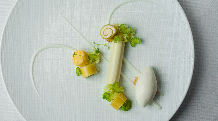 the modern green apple panna cotta
