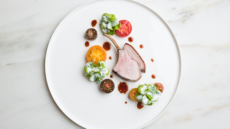 the modern pork lettuce and tomato