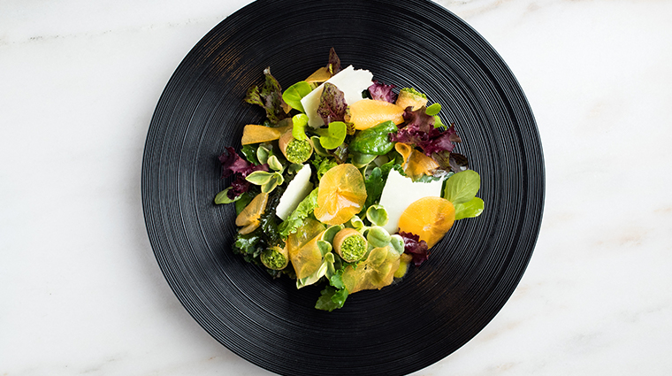 the modern salad with pecorino and persimmon