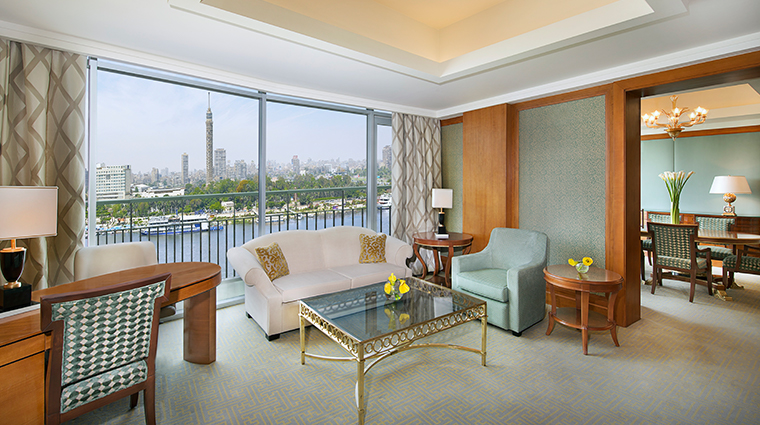 the nile ritz carlton cairo presidential suite living area