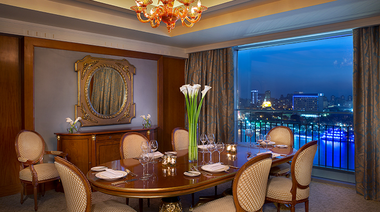 the nile ritz carlton cairo royal suite dining room