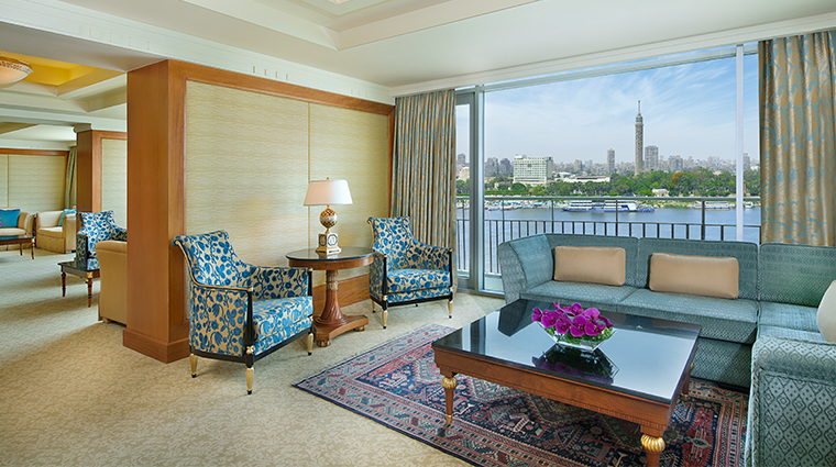 the nile ritz carlton cairo royal suite living area